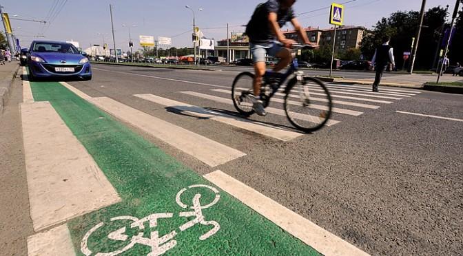 Велодорожка в Москве