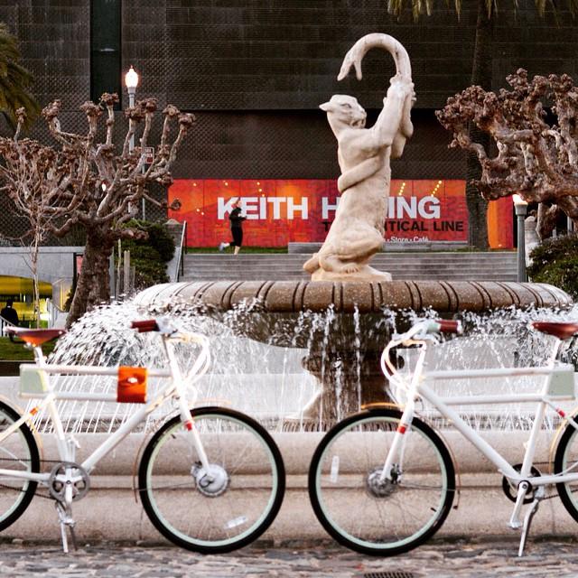 Faraday Porteur e-bike fountain